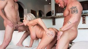 Samantha Jay Video - For the MILF who has everything...two cocks!